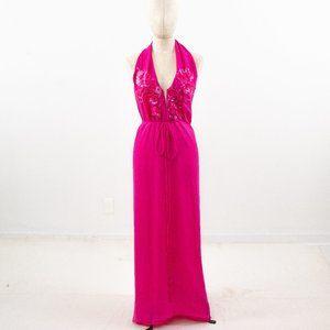 La Perla S/M Silk Dress Sequin Maxi Pink NWOT
